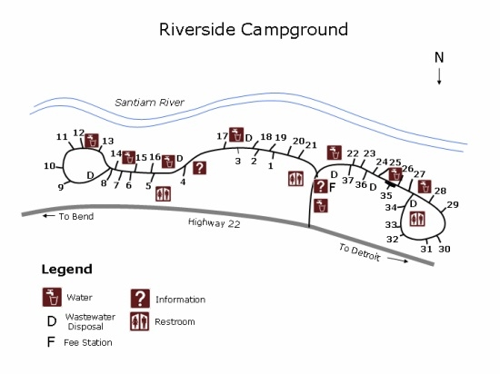 Willamette National Forest Riverside Campground Detroit