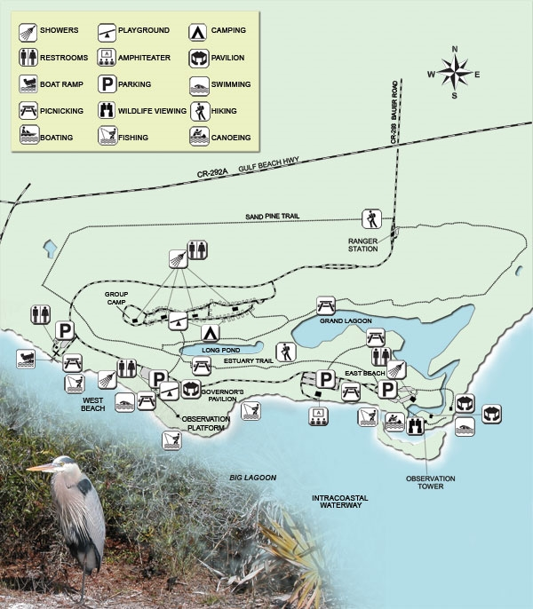 Big Lagoon State Park Pensacola Fl Gps Campsites