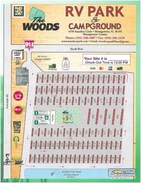 The Woods Rv Park And Campground Montgomery Al Gps