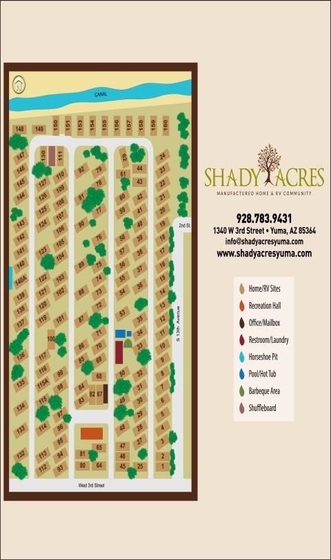 Shady Acres Mh And Rv Community Yuma Az Gps Campsites