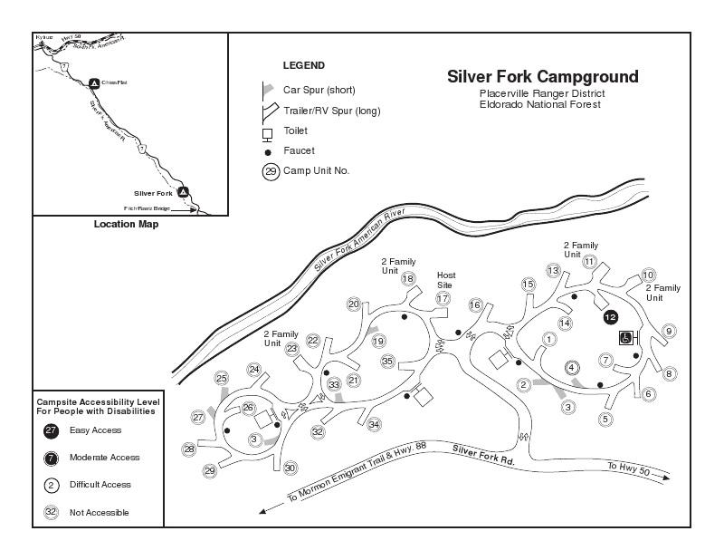 Eldorado National Forest Silver Fork Campground, Pioneer
