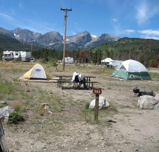 Campgrounds Estes Park Colorado: Rocky Mountain National Park Glacier Basin Campground