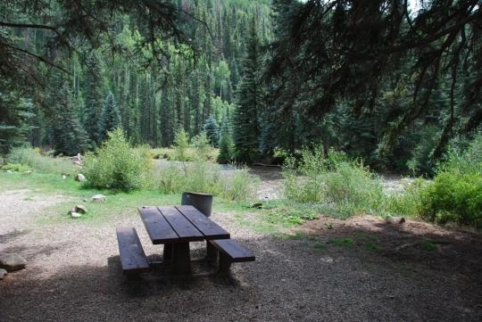 San Juan National Forest West Dolores Campground Dolores
