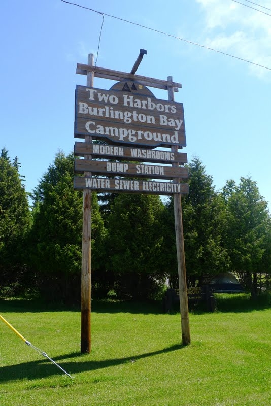 Burlington Bay Campground, Two Harbors, MN - GPS, Campsites