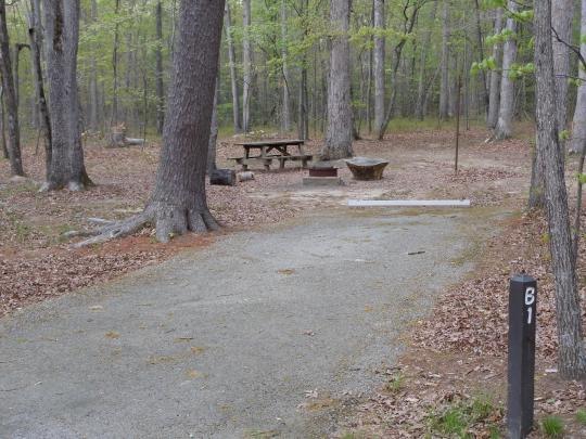 Prince William Forest Park Oak Ridge Campground Triangle