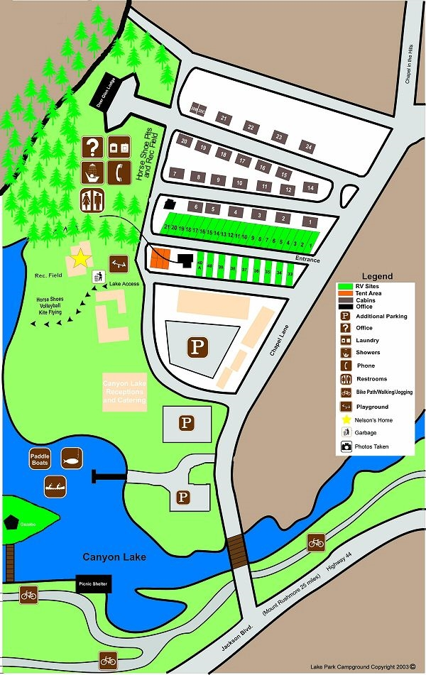 Lake Park Campground & Cottages, Rapid City, SD - GPS ...