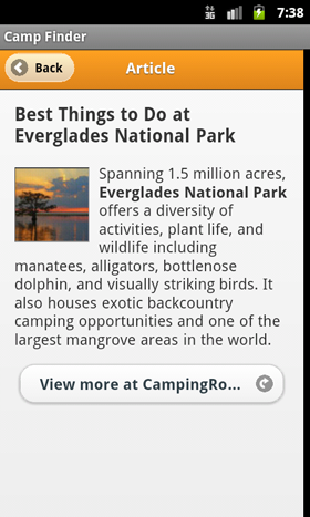 Camp Finder App - Article on Best Things to Do at Everglades National Park