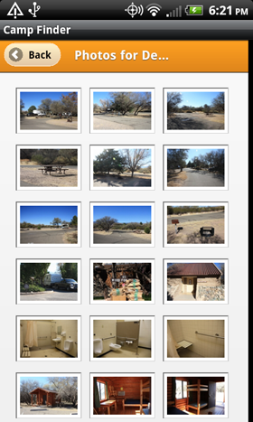 Camp Finder App - Dead Horse Ranch State Park Campground Photo Gallery