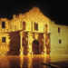 Night shot of the Alamo