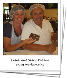 Frank and Stacy Pullano workamping