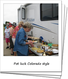 Loners on Wheels RV Club - Pot luck Colorado style