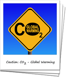Road sign that says 'CO2 - global warming'
