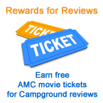 Earn movie tickets for campground and RV park reviews