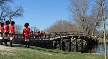 Renactment of Historical Battle between Red Coats and Colonials at North Bridge