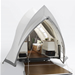 Pop up camper shaped like Sydney Opera House