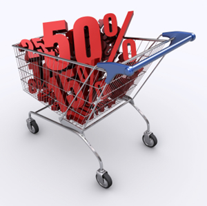 Camping and RVing discounts in a shopping cart