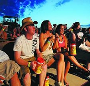 Music lovers enjoying Country Fest