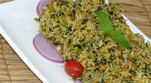 Spinach and Carrots Pullao