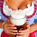 Bavarian woman holding a beer stein
