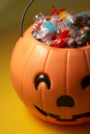 Candy filled pumpkin