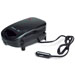 A portable 12V sandwich maker with its power cord attached sits in front of a white background