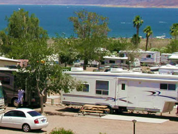 RV sites at Lake Mead