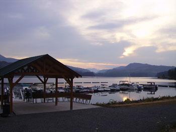 Lake view from Edgewater RV Resort