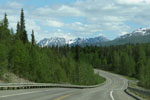 Parks Highway Alaska with views of Alaska's Range