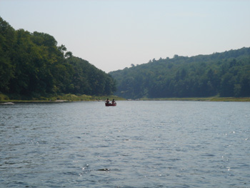 Canoeing on the Delaware River