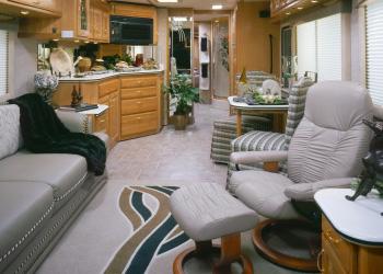 Interior Of A Class Motorhome