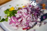 Red Onion garnish