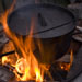 Dutch oven over fire
