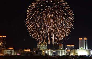 4th of July Fireworks over Atlantic City, New Jersey