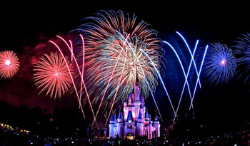 4th of July Fireworks over Walt Disney World Resort, Florida