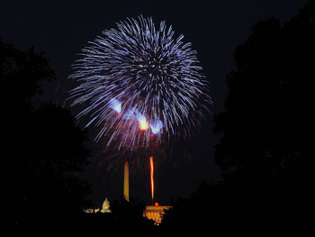4th of July Fireworks over Washington D.C.