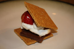 Chocolate strawberry smore