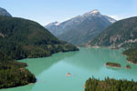 Overlook view of jade green Diablo Lake