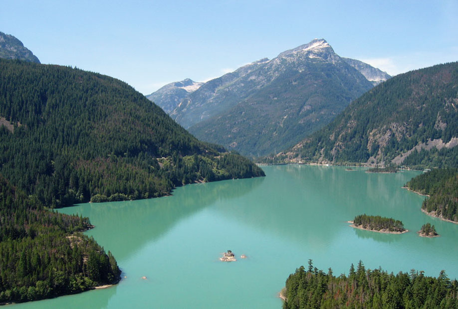 Overlook view of Diablo Lake, WA