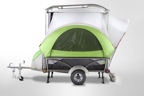 SylvanSport GO Camper Trailer fully opened