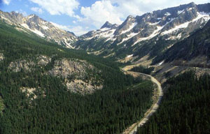 Scenic view East from Washington Pass