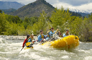 White water rafting on Wenatchee River