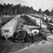 Rows of trailers at Tin Can Tourists 1949 convention in Tampa Florida