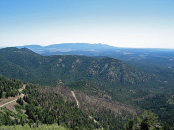 Scenic view of Southern New Mexico from Sierra Blanca Peak
