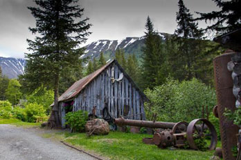 Mining Equipment at Crow Creek Mine, Girdwood, AK