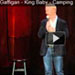 Comedian Jim Gaffigan standing up on stage