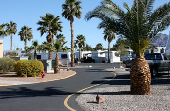 RV sites at Las Vegas RV Resort