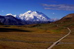 Road leading to Mt McKinley Alaska