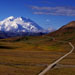 Road leading to Mt McKinley, Alaska
