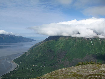 View of Turnagain Arm from Bird Ridge Trail, Chugach State Park, AK
