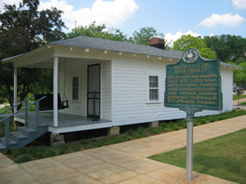 Small white house - the birthplace of Elvis Presley, Tupelo MS